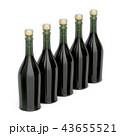 シャンパン シャンペン びんのイラスト 43655521