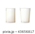 ミルク 乳 牛乳のイラスト 43656817