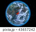 地球 パキスタン 街の灯りのイラスト 43657242