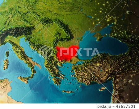 Orbit view of Bulgaria 43657501