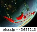 地球 大地 インドネシアのイラスト 43658213