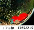 地球 大地 カザフスタンのイラスト 43658215