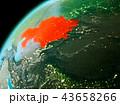 地球 大地 カザフスタンのイラスト 43658266