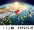 地球 大地 北朝鮮のイラスト 43658516
