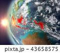 地球 大地 インドネシアのイラスト 43658575