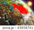 地球 大地 カザフスタンのイラスト 43658741