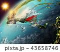 地球 大地 ホンジュラスのイラスト 43658746