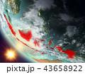 地球 大地 インドネシアのイラスト 43658922