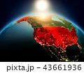 アメリカ 米国 地球のイラスト 43661936