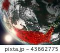アメリカ 米国 地球のイラスト 43662775