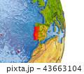 ポルトガル 地球 マップのイラスト 43663104