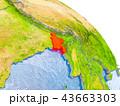 バングラディシュ 地球 マップのイラスト 43663303