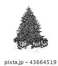 クリスマス 樹木 樹のイラスト 43664519