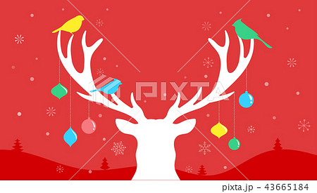 merry christmas banner xmas template background with deer