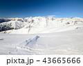 粉雪 パウダースノー 山脈の写真 43665666