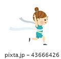 マラソン 陸上競技 選手のイラスト 43666426