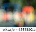 Blurred view of children playground. Sunny 43668921