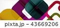 ジオメトリック 幾何学的 格好のイラスト 43669206