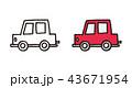 手描きの車イラスト 43671954