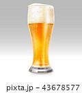 ビール ライト 光のイラスト 43678577