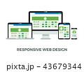 Web デザイン 柄のイラスト 43679344