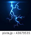 雷雨 雷 ライトのイラスト 43679535