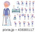 女性 おばあさん シニアのイラスト 43680117