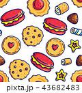 お菓子 キャンディー スイートのイラスト 43682483