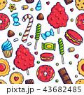 お菓子 キャンディー スイートのイラスト 43682485