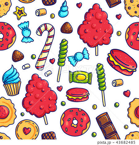 Colorful candies seamless pattern 43682485