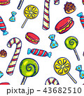 Colorful candies seamless pattern 43682510