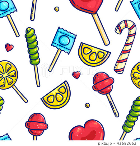 Colorful candies seamless pattern 43682662