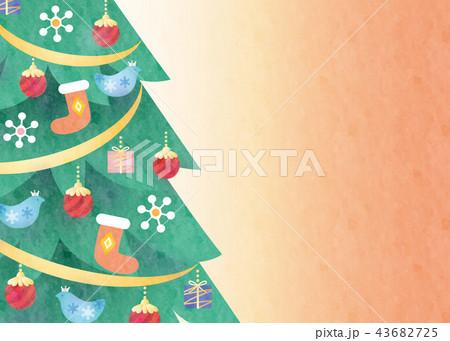 背景素材-クリスマスツリー 43682725