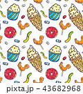 Colorful candies seamless pattern 43682968