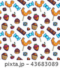 お菓子 キャンディー スイートのイラスト 43683089