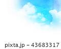 空 テクスチャー 背景素材のイラスト 43683317