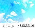 空 テクスチャー 背景素材のイラスト 43683319