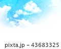 空 テクスチャー 背景素材のイラスト 43683325