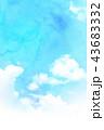 空 テクスチャー 背景素材のイラスト 43683332