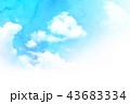 空 テクスチャー 背景素材のイラスト 43683334