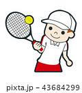 テニス テニスボール テニスラケットのイラスト 43684299