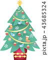 クリスマス オーナメント クリスマスツリーのイラスト 43685324