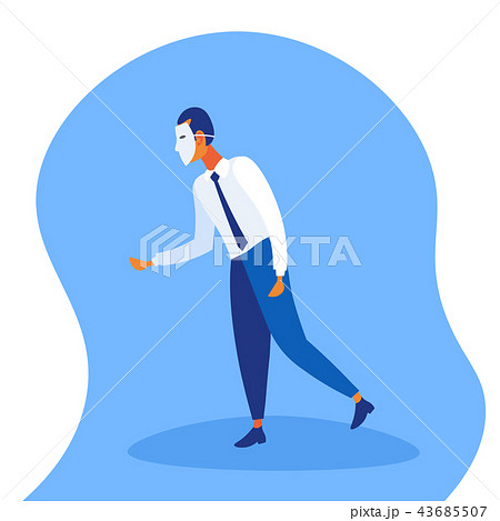 Businessman wearing white mask fraud concept faceless man handshake confident business strategy male 43685507