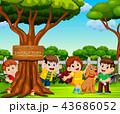 少年 子ども 子供のイラスト 43686052