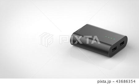 モバイルバッテリー パース 左コピースペース 43686354