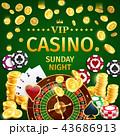 カジノ カジノの ギャンブルのイラスト 43686913
