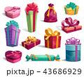 プレゼント BOX ボックスのイラスト 43686929