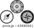 方位磁石 羅針盤 コンパスのイラスト 43686941