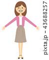 女性 若い ベクターのイラスト 43688257