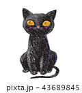 黒色 黒 ブラックのイラスト 43689845